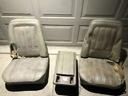 73 74 75 76 77 Chevy Pickup Truck Bucket Seats Console Square Body Cst Low Back