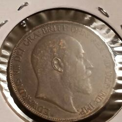 1902 Uk Gb Great Britain One Penny Coin