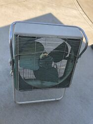 Vintage Sears Kenmore Roll-a-matic Box Fan Thermostat And Reversible Antique