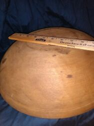 Antique Primitive Out Of Round Hand Turned Wooden 15 Dough Bowl Middleburg Va