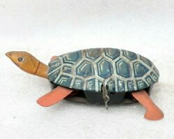 Vintage Old Wind Up Tin Toy Turtle Tortoise Modern Toys Brand Japan Working Mp
