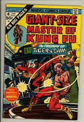 Giant Sized Masters Of Kung Fu 4 - Bronze Age Classic - High Grade 9.0 Vf/nm