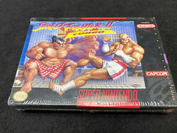 Snes Street Fighter Ii Turbo Sealed In Package H-seam With Tag Read Description
