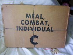Vietnam Era Us Army C-rations Sealed Case Dated Nov. 1968 12 Meals Look