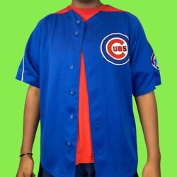 Alfonso Soriano Chicago Cubs Majestic Baseball Jersey Size Large Vintage Mlb