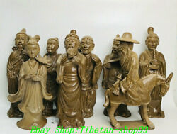 20 China Song Dynasty Yue Kiln Porcelain Eight Immortals 8 God Statue Set