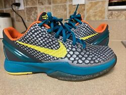 Nike Kobe Vi 6 Glass Blue Helicopter Protro Bruce Lee 5y 100 Authentic