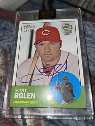 2021 Archives Signature Scott Rolen 2012 Certified On-card Auto /46 Reds Rare