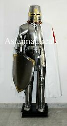 Medieval Renaissance Knights Templar Full Suit Of Armour Wearable Larp Costume