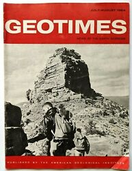 1964 Geotimes Earth Sciences Magazine Oand039neill Butte Kaibab Trail Grand Canyon