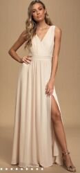New W/ Tag Luluandrsquos Thoughts Of Hue Gardenia Maxi Dress -all Ocassion -cream-small