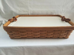 Longaberger Large Serving Tray With Lidded Protector