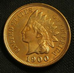 1900 1c Indian Small Cent Penny An1