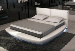 Ultra Modern Contemporary Leather Bed With Led Lights Queen Or King V115096