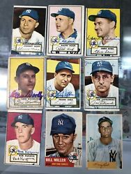 1950s 60s 70s Topps Yankees Autograph Collection 91 Total Autos Hof Stars Nice