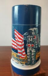 1969 Vintage The Astronauts Lunchbox Thermos Only Aladdin Antique Space Age 60s