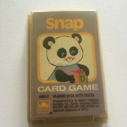 Vintage Snap Card Game By Golden 4904-2 45 Card Deck With Rules