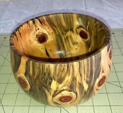 Hawaiian Wood Bowl Norfolk Pinelocal Artistgallery And Collector Quality 721-7