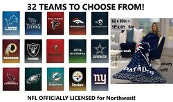 Nfl Football Official U-pick Faded Glory Blanket Throw 60 X 80 677310 - New