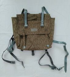 East German Ddr Nva Strich Rain Camo Backpack Rucksack With Harness Straps