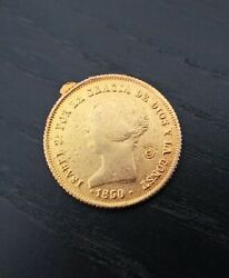 Fantasy Coin Elizabeth Ii Doubloon Coin Metal Gold Mint Madrid Spain