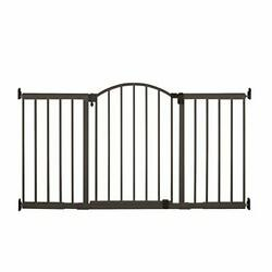 Metal Expansion 6-foot-wide Extra Tall Walk-thru Baby Gate, Bronze Finish –