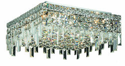 2033 Maxime Collection Flush Mount L16in W16in H5.5in Lt6 Chrome Finish Roy...
