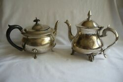 Two Antique / Vintage Silver Plated Teapots.