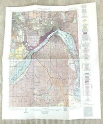 1915 Antique Map Of Minneapolis St Paul The Mississippi River Usa Geological