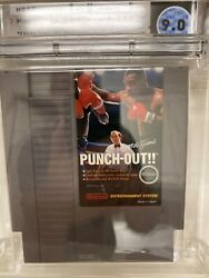 Mike Tysonand039s Punch Out Nes Nintendo First Print Game Rare White Bullets Wata 9.0
