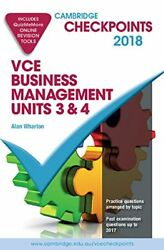 Cambridge Checkpoints Vce Business Management Units 3 And 4 2018 And Quiz Me Mor