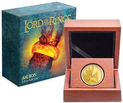 2021 Niue The Lord Of The Rings - Sauron 1/4 Oz Gold Proof Coin Sold Out