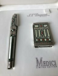 St.dupont Medici Limited Edition Duo Set Lighter + Fountain Pen, New