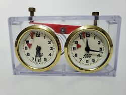 Schachuhr German Mechanical Chess Clear Clock Apfv Rolland Unadjusted Vintage
