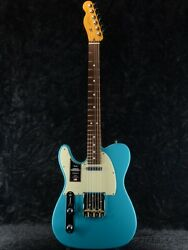 Fender Usa American Professional Ii Telecaster Left-hand -miami Blue Rosewood-