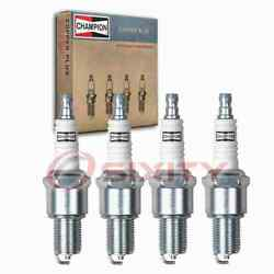 4 Pc Champion Intake Side Copper Plus Spark Plugs For 1987-1988 Nissan Ca