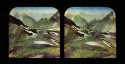 Pic Of La Vignemale Pyrenees France Stereo Diorama Tissue Stereoview Vintage