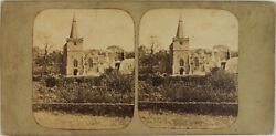 Uk Isle Of Wight Church Saint Hornell, Photo Stereo Vintage Albumin