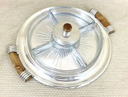 Rare Christofle Normandie Silver Plated Luc Lanel Serving Tray Hors Dand039oeuvre