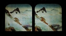 All Great Mules Chamonix Stereo Diorama Tissue Stereoview Vintage Albumin