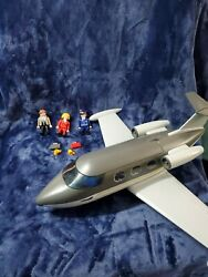 Playmobil 5619 City Life Private Jet Airplane Toy Plane Only Missing Luggage Cup