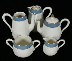 Rare Antique Lenox China H54d Pattern 7 Pc Serving Items For Breakfast Set