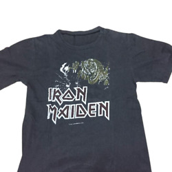 Rare Iron Maiden 1982 Vintage Japan Tour T Shirt M Size Rock And Roll Black Band