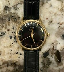 Vintage Omega G6518 14k Solid Yellow Gold 32mm Bumper Automatic Cal. 351 Watch