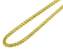 Solid 10k Yellow Gold Diamond Cut Franco Chain Necklace 5.3mm 18-30 Inches