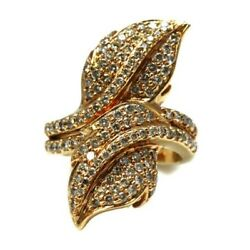Ring Double Leaf Gold Blush And Bright