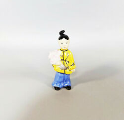 Herend, Chinese Asian Girl With Flower, Handpainted Porcelain Figurine J125