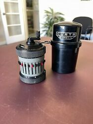 Rare Curta Type Ii Pocket Calculator With Case No553866 Vintage 1962 Mint Cond