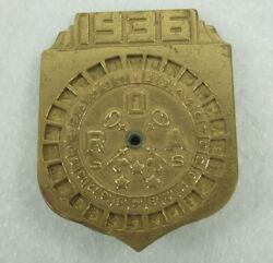 Vintage 1936 Radio Little Orphan Annie Decoder Badge Pin With Secret Compartment