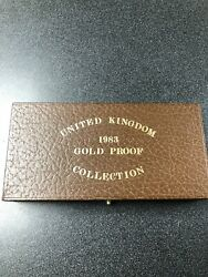 United Kingdom 1983 Gold Proof Coin Set Of 3